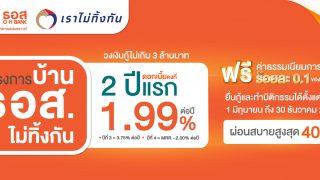สินเชื่อโครงการบ้าน ธอส. เราไม่ทิ้งกัน  เพื่อให้คนไทยมีบ้าน จุดเริ่มต้นของความมั่นคงในชีวิต ช่วงการฟื้นฟูเศรษฐกิจ