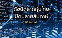 ภาพรวมดัชนีตลาดหุ้นไทย ปิดปลายสัปดาห์ 20 ธ.ค.62