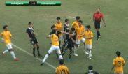 คลิปเด็ด! ดูบอลแถมมวย แข้ง อัสสัมชัญธนบุรี - กรุงเทพคริสเตียน ดุเดือด ปล่อยหมัดใส่กันท้ายเกม ฟุตบอล 18 ปี ก.
