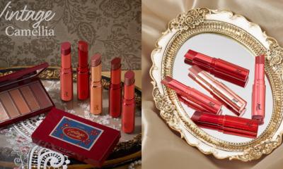 Etude ออกมินิพาเลท Vintage Camellia และลิป Mood Glow Lipstick ทั้งหมด 5 เฉดสี